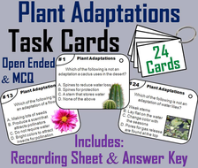 Plant Adaptations Task Cards