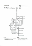 Conflict in Indochina - crossword, word search and solutions