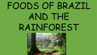 Brazil and Rainforest Fruits and Foods