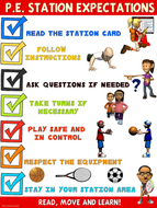 PE Poster: Station Expectations- Middle and High School Version