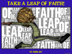 "PE Word Art Poster: ""Take a Leap of Faith"""