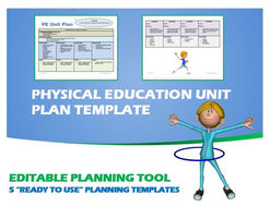 """Physical Education Unit Plan- 5 """"Ready to Use"""" Planning Templates"""
