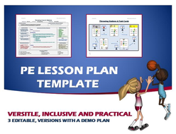 Physical Education Lesson Plan Template By Ejpc Teaching - Pe lesson plan template