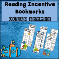 Ocean Bookmarks - Reading Incentive