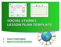 Lesson Plan Template- Social Studies (Editable)