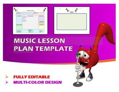 Lesson Plan Template- Music (Editable)