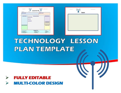 Lesson Plan Template - Technology (Editable)