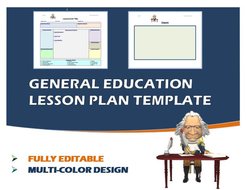 Lesson Plan Template- General Education (Editable)