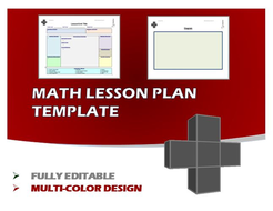 Lesson Plan Template - Math (Editable)