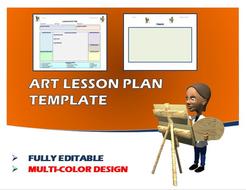 lesson plan template art editable