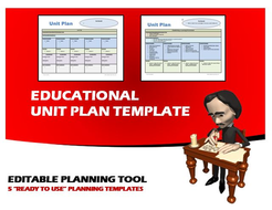 """Educational Unit Plan Template - 5 """"Ready to Use"""" Planning Templates"""
