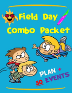Field Day Combo Packet- Comprehensive Beach Themed Plan and 50 Event Pack