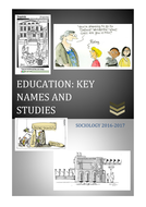 AQA Education - Key names and studies overview pack