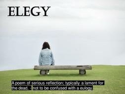 OCR GCE H074 Literature Poetry - 'Elegy'  by Carol Ann Duffy.