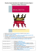 Macbeth extracts and essay questions (AQA)