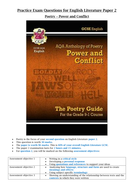 AQA Power and Conflict essay questions