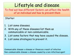 Lifestyle and disease AQA