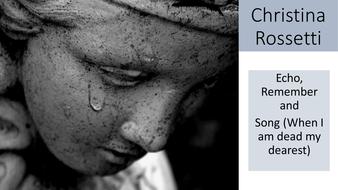 echo by christina rossetti poem analysis
