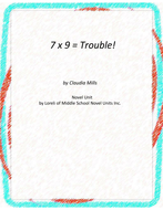 7x9=Trouble!  Novel Unit with Literary and Grammar Activities
