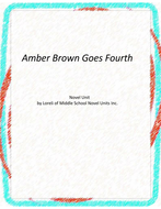 Amber Brown Goes Fourth Novel Unit with Literary and Grammar Activities