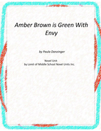 Amber Brown isGreen With Envy Novel Unit with Literary and Grammar Activities