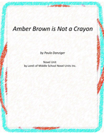 Amber Brown is Not a Crayon Novel Unit with Literary and Grammar Activities