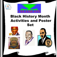 Black History Month Activities and Poster Set