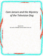 Cam Jansen and the Mystery of the Television  Dog Novel Unit