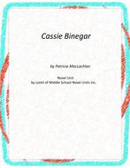 Cassie Binegar Novel Unit with Literary and Grammar Activities