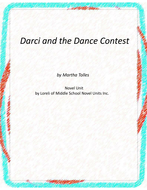 Darci and the Dance Contest Novel Unit with Literary and Grammar Activities