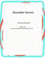 December Secrets Novel Unit With Grammar and Literary Activities