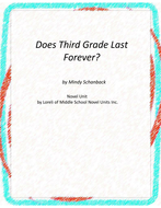 Does Third Grade Last Forever Unit with Literary and Grammar Activities