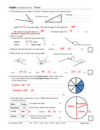 Angles homework or revision resource