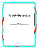 Fourth Grade Rats Book Unit with Literary and Grammar Activities