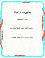 Henry Huggins Novel Unit with Literary and Grammar Activities