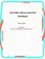 Horrible Harry and the Holidaze Novel Unit with Literary and Grammar Activities