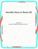 Horrible Harry in Room 2B Novel Units with Literary and Grammar Activities