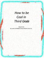 How to be Cool in Third Grade Unit with Literary and Grammar Activities