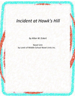 Incident at Hawk's Hill Novel Unit With Literary and Grammar Activities