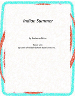 Indian Summer Novel Unit with Literary and Grammar Activities