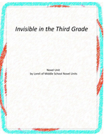 Invisible in the Third Grade Novel Unit with Literary and Grammar Activities