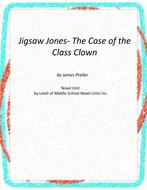 Jigsaw Jones-Case of Class Clown Unit with Literary and Grammar Activities