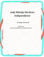 Judy Moody Declares Independence Novel Unit with Literary and Grammar Activities