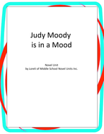 Judy Moody is in a Mood Book Unit