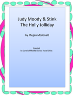udy Moody & Stink The Holly Jolliday Unit With Literary and Grammar Activities