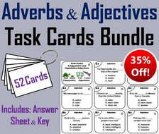Adverbs and Adjectives Task Cards