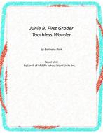 Junie B. First Grader Toothless Wonder Unit with Literary and Grammar Activities