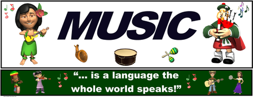 "Music Banner #7: ""Music... is a language the whole world speaks"""