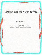 Marvin and the Mean Words Novel Unit with Literary and Grammar Activities