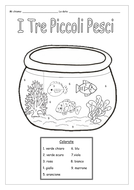 ITALIAN - COLOUR BY NUMBERS - WORKSHEETS